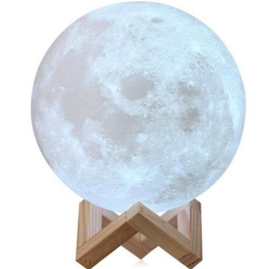 3D SPACE MOON LAMP LUNAR NIGHT LIGHT USB CHARGING TOUCH CONTROL