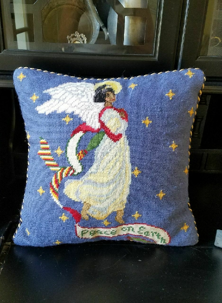 Angelic Cross Stitch Pillow