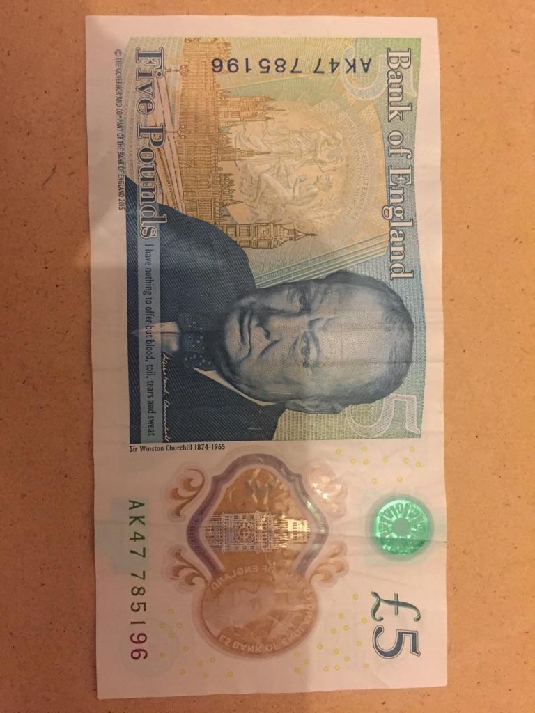 5 pound note AK47 785196