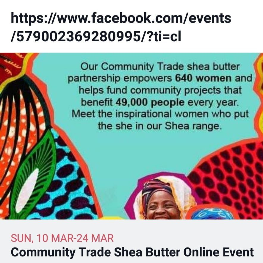 Online community trade Shea butter event