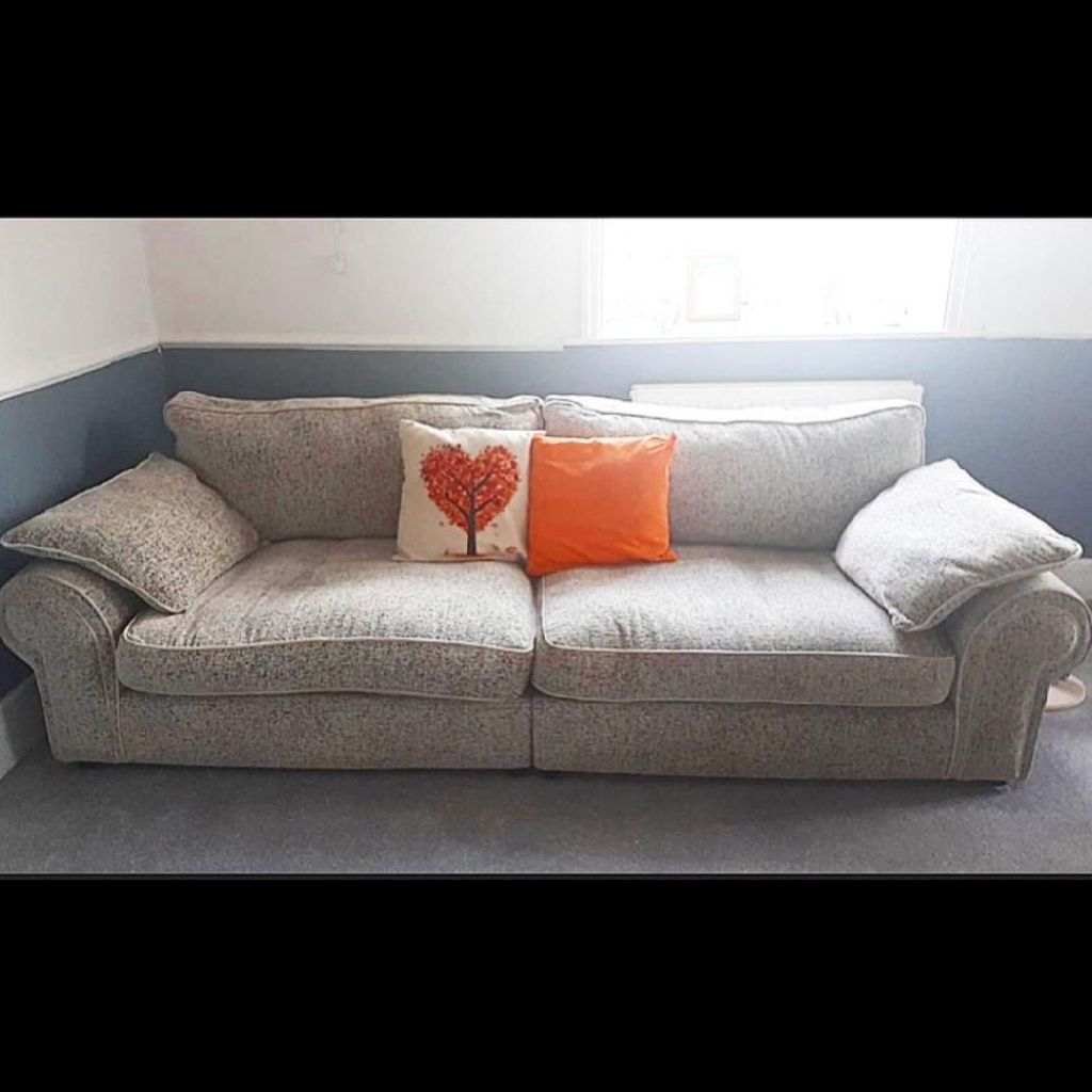 2 x 4 seater fabric sofas!