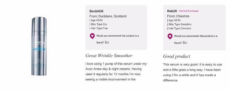 Avon's serum winkle cream