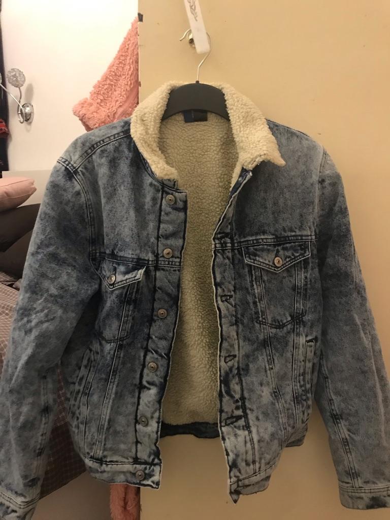 Denim winter jacket