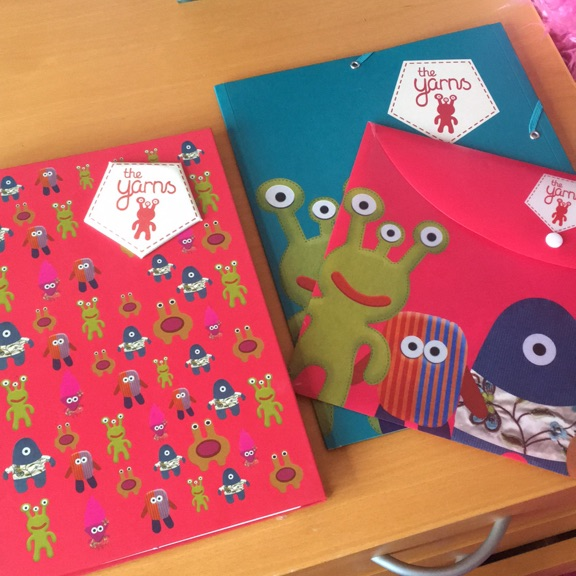 Set of 3 (notebook and two folders)