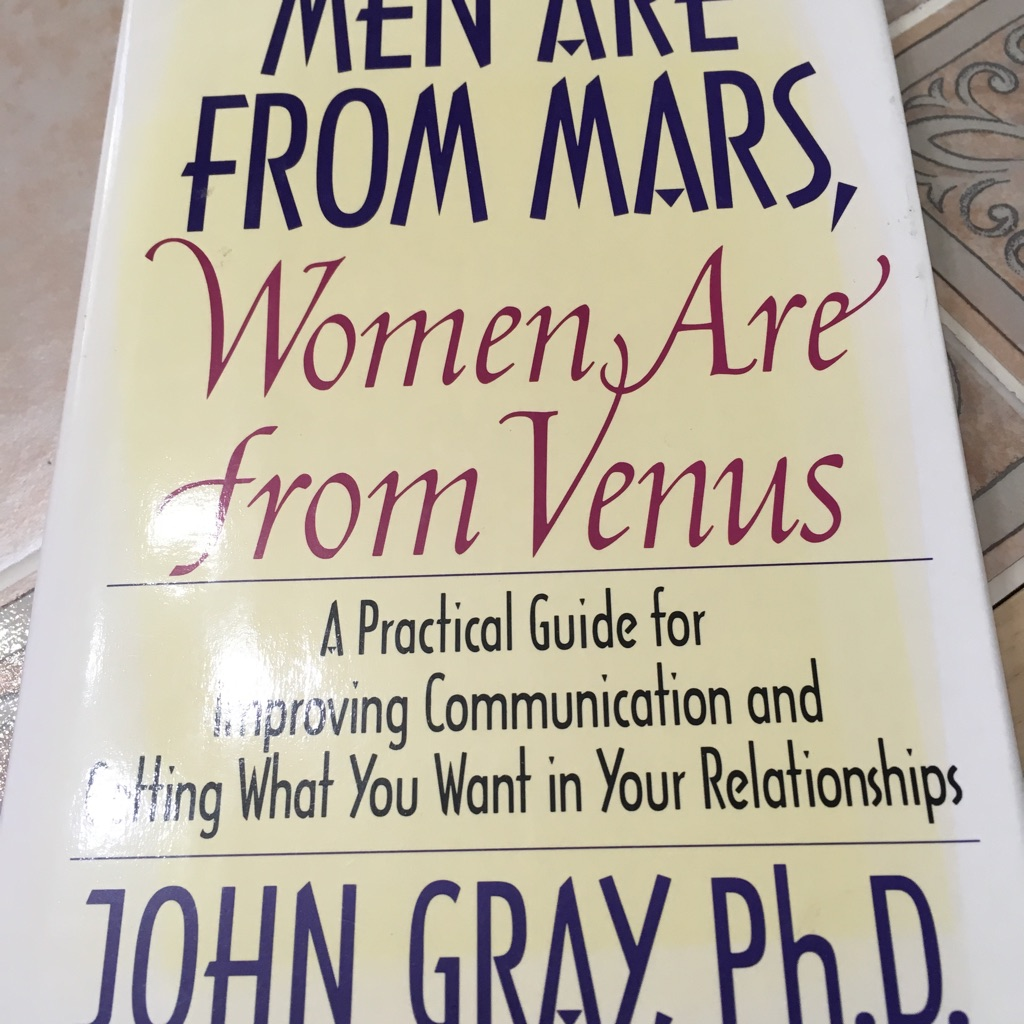 an analysis of the book men are from mars women are from venus by john gray Deborah cameron men and women are essentially different they think & communicate differently and are suited to different roles in life she refers to john gray's 1992 book 'men are from mars and women are from venus' and states that gender differences are misleading, suggesting there are more differences within the genders, rather than.
