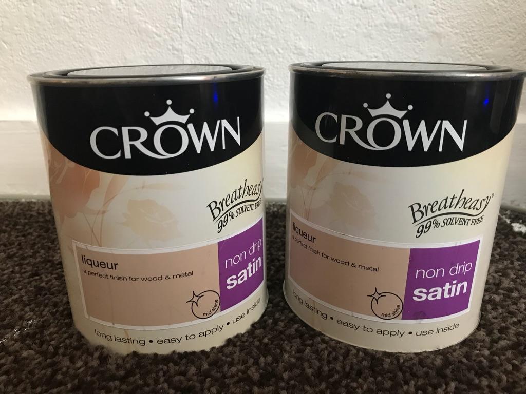 2 x Satin paint 750 ml each