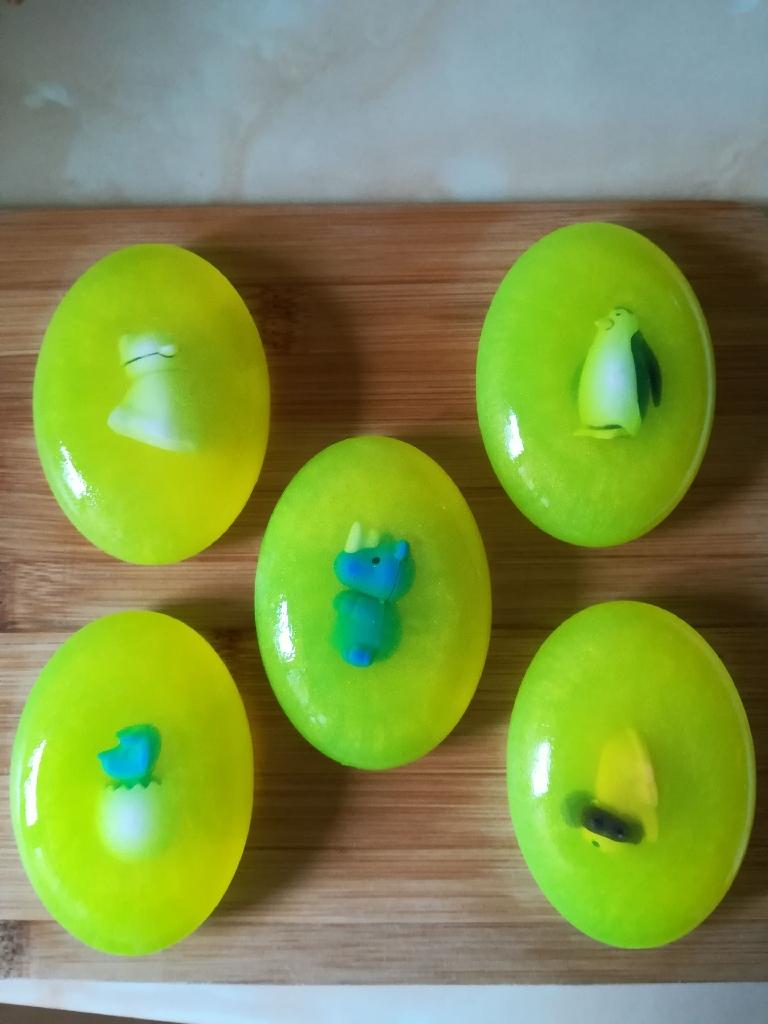 Apple fragranced glycerin soap.