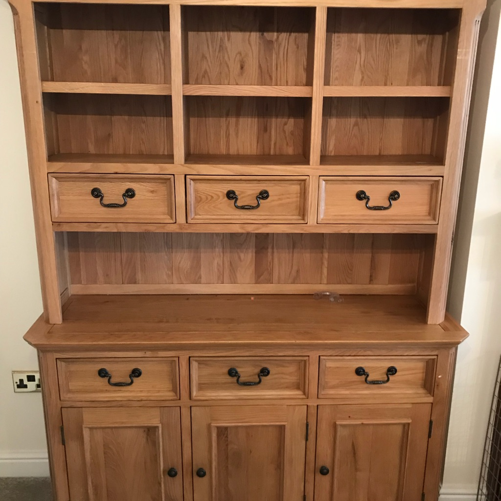 Solid Oak Display Cabinet