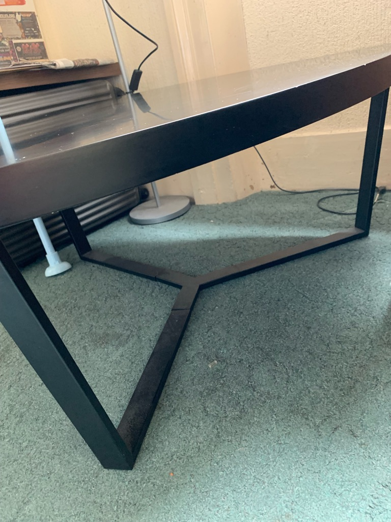 Dwell Coffee Table.Dwell Matte Black Coffee Table