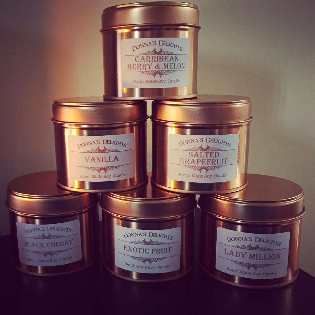 Soy wax candles and wax melts