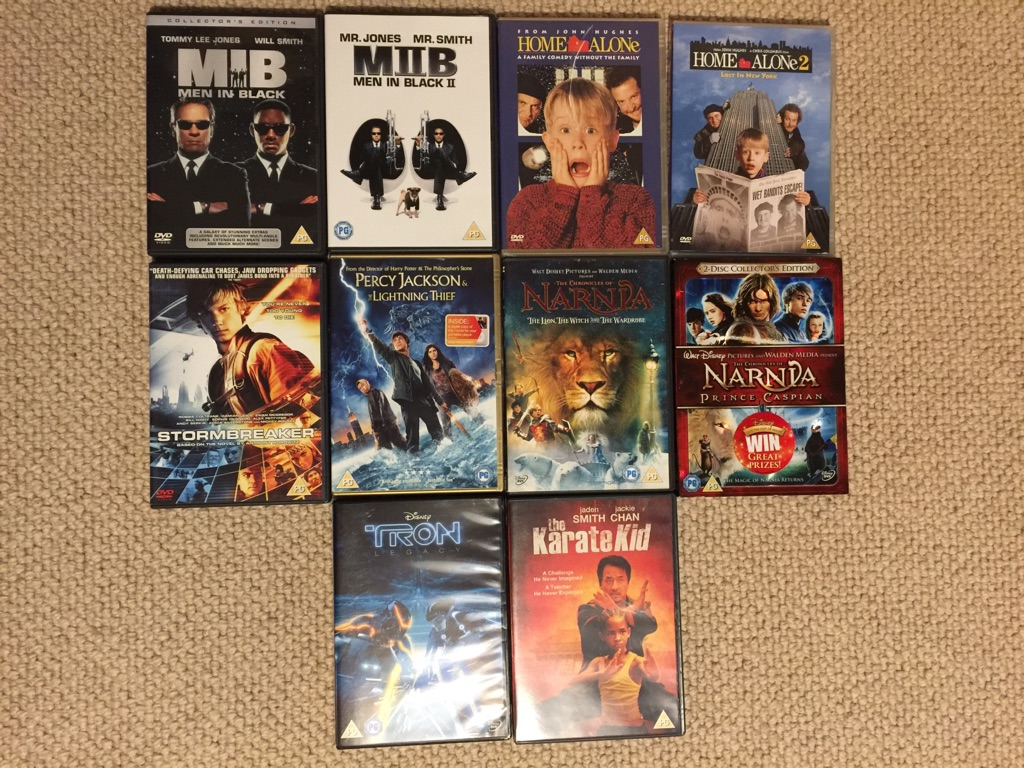 DVD Bundle (10 movies, all certificate PG)