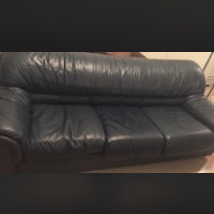 Blue green sofa