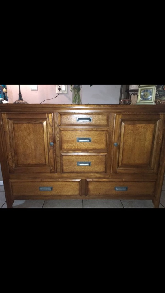Wooden buffet or dresser