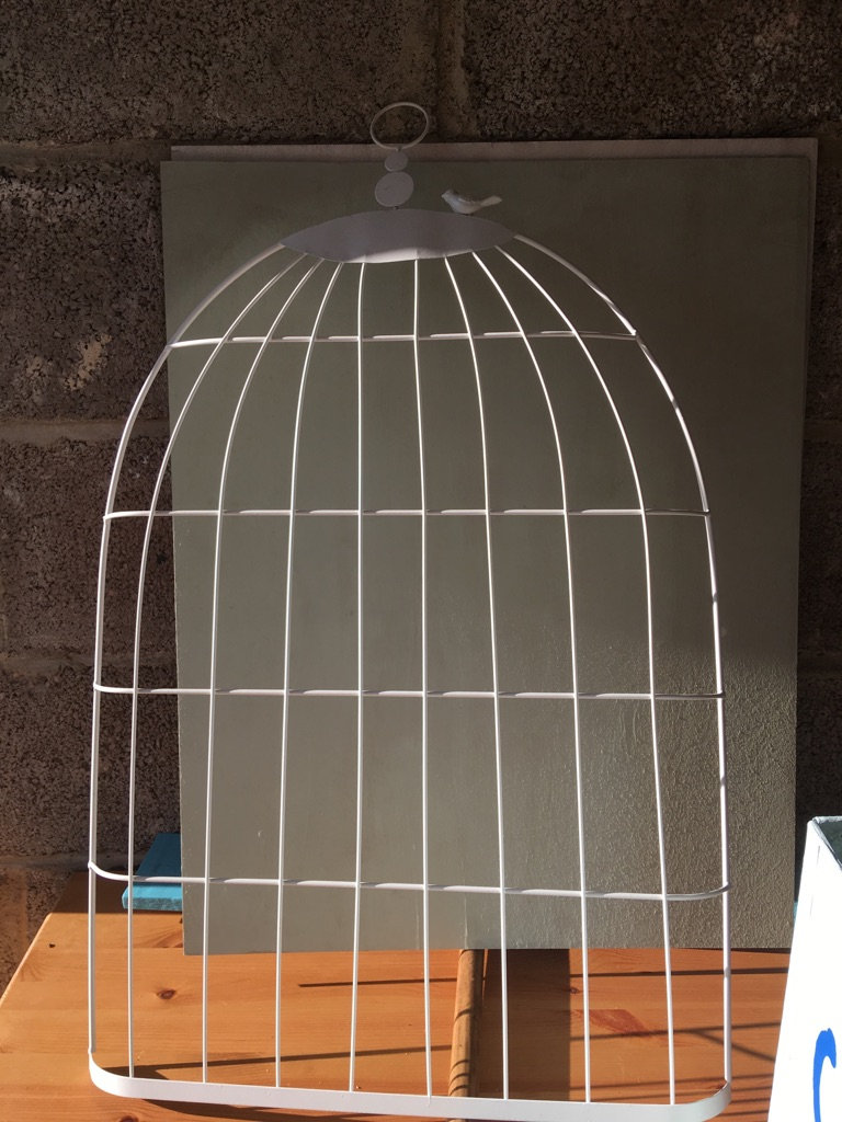 Wedding bird cage for table plans