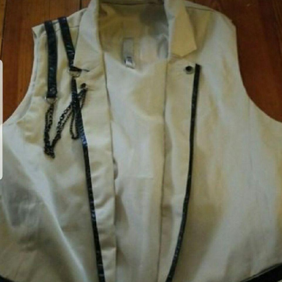 Women's White punk vest size S/M