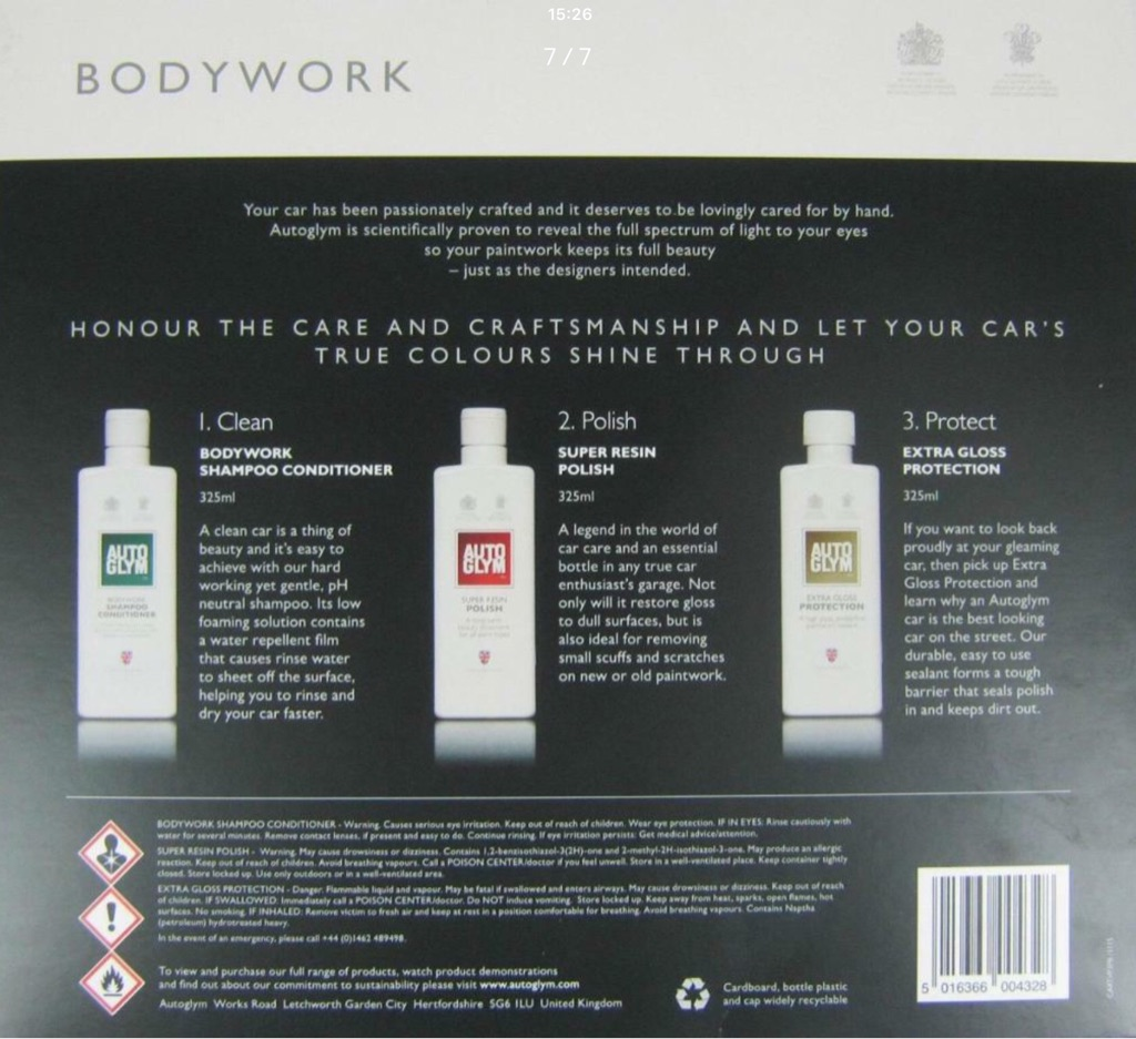 Autoglym Bodywork + Interior Twin pack