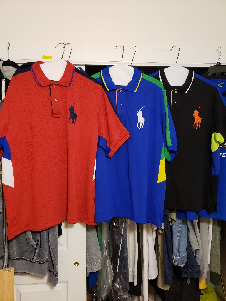 3 POLO STRETCH FIT SPORT SHIRTS FOR $90