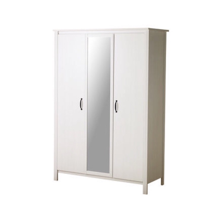 Ikea Brusali wardrobe with 3 doors