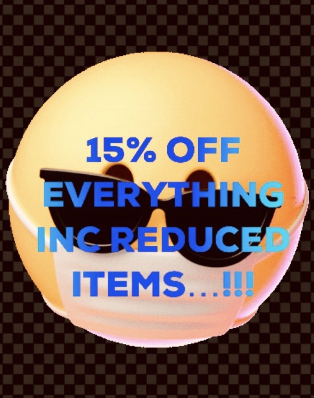 ‼️15% OFF EVERYTHING INC REDUCED ITEMS‼️