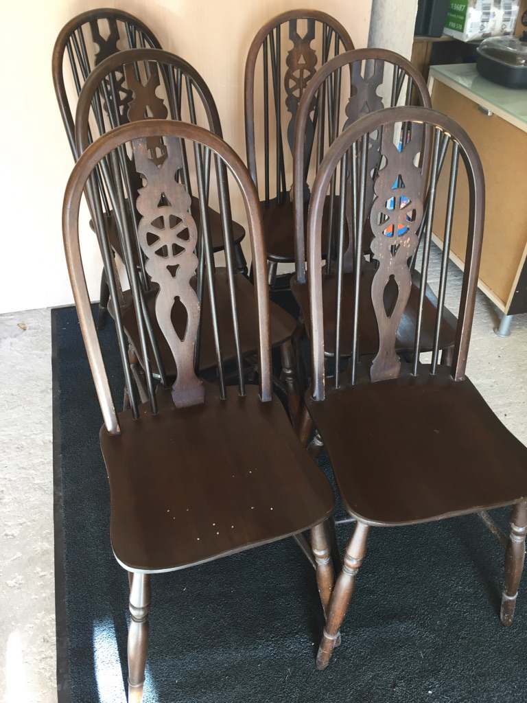 Set of 6 Dining chairs in cottage style