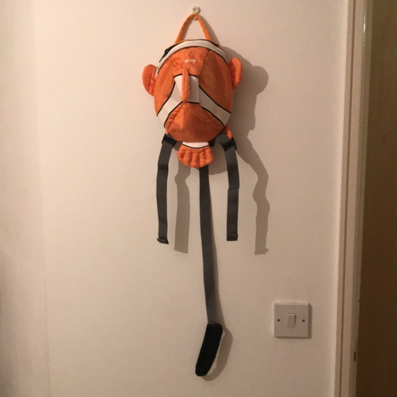 Little Life Backpack Clownfish With Safety Rein & Rain Hood