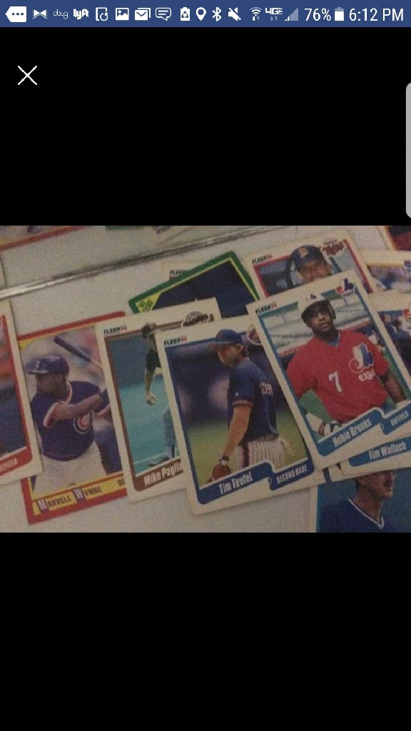 Vintage baseball cards 1981-1990
