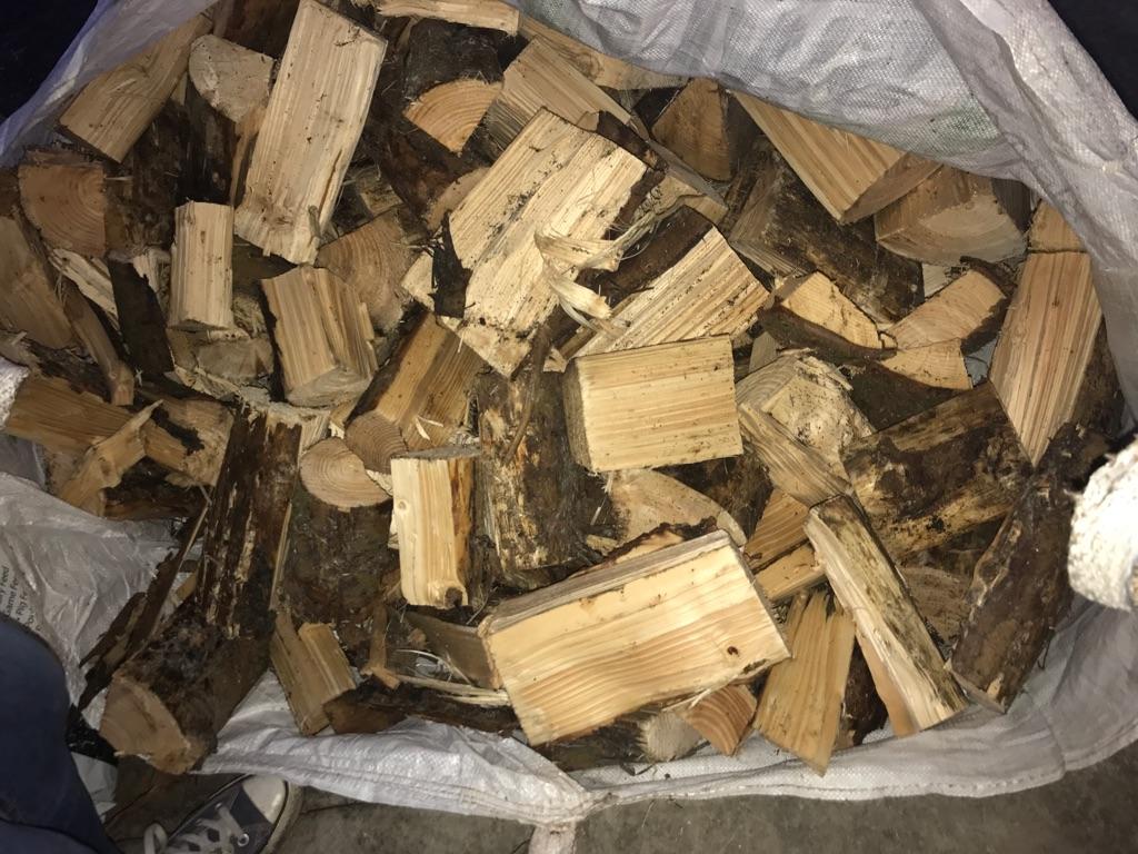 Large bags of logs - seasoned