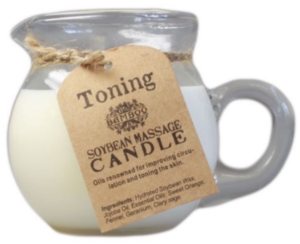 Soybean massage candle- toning and firming