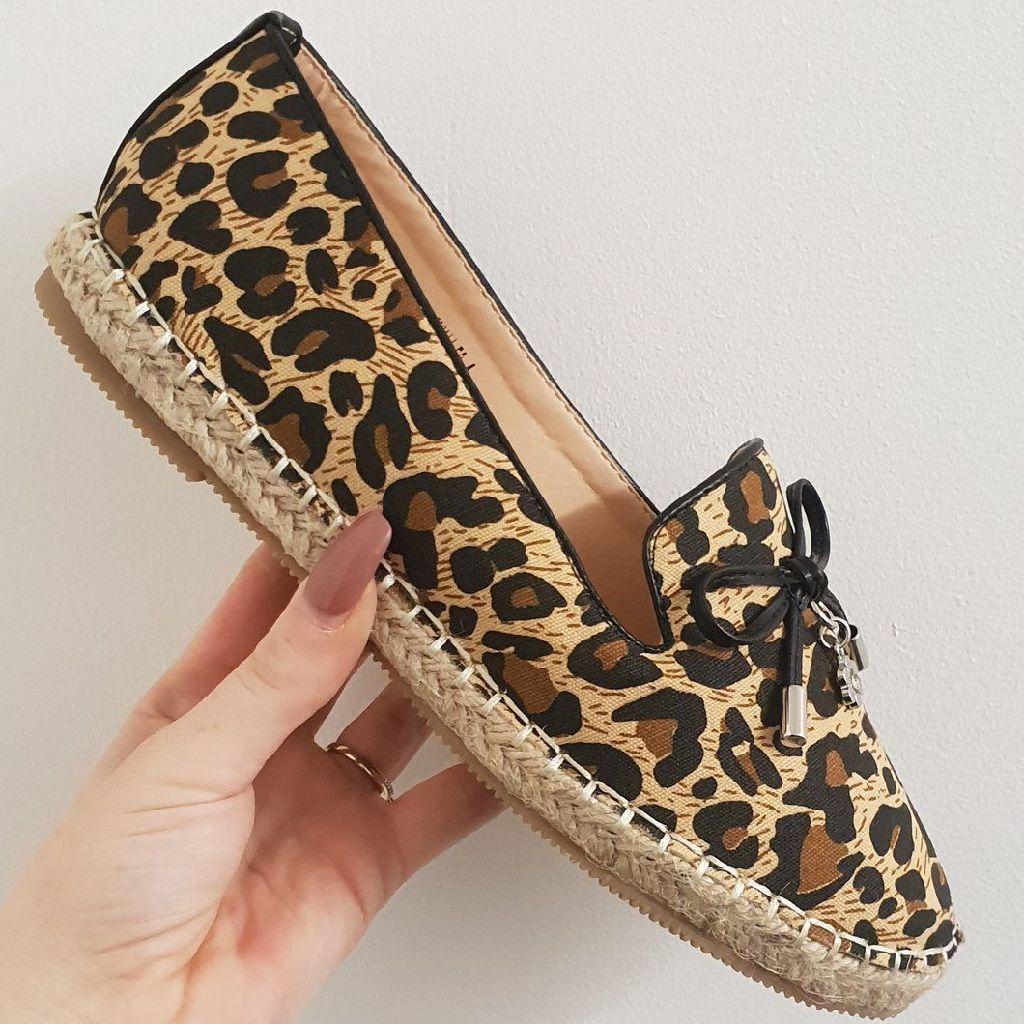 Olivia leopard slip ons