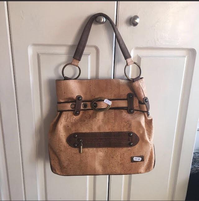 Handmade cork large bag