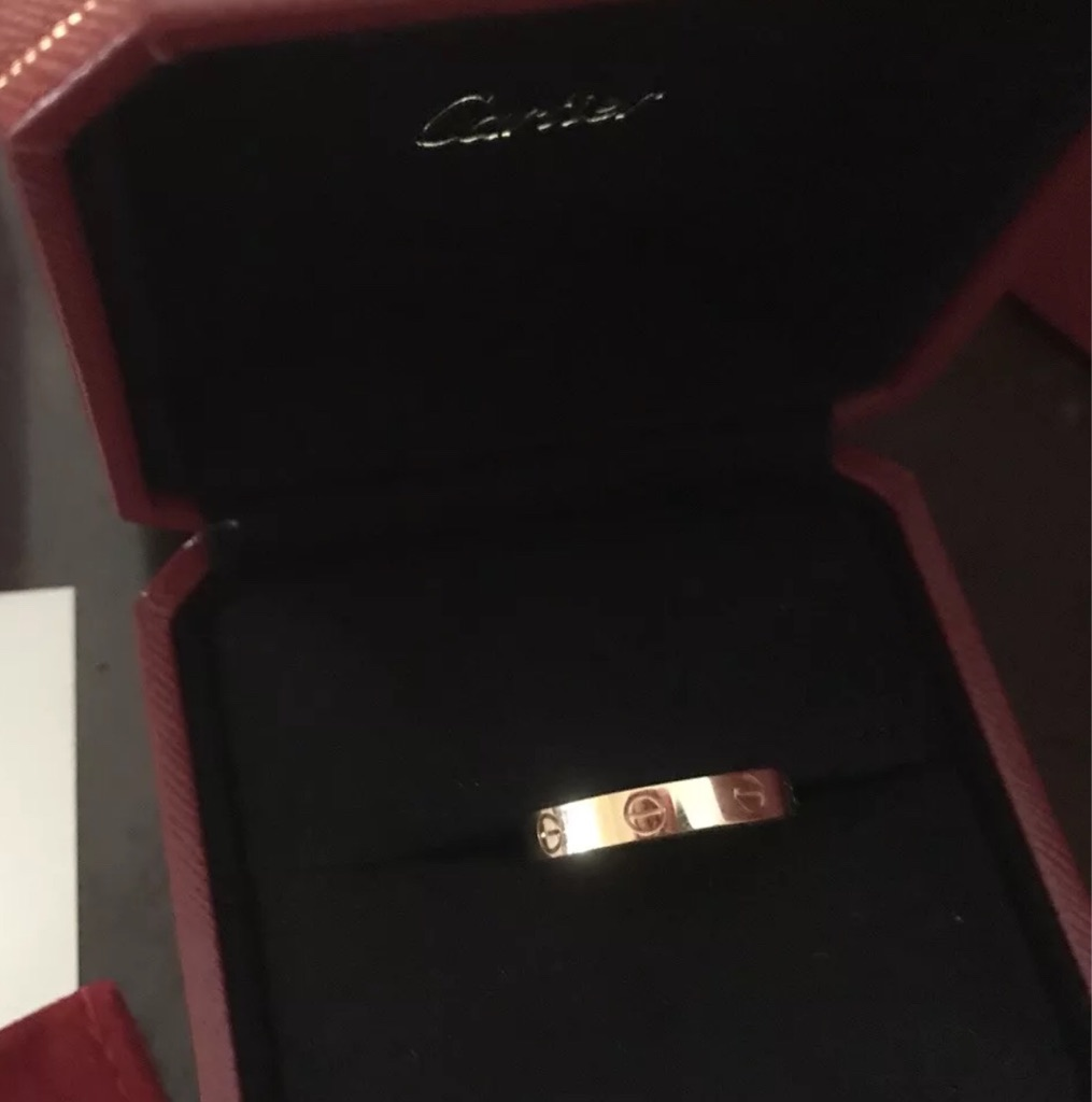 18k Pink Gold love ring size 6 (BOX NOT INCLUDED)