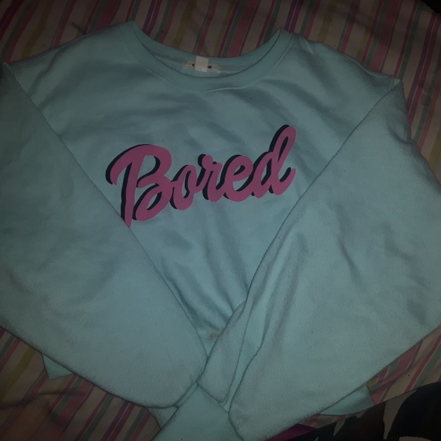 Crop blue sweater
