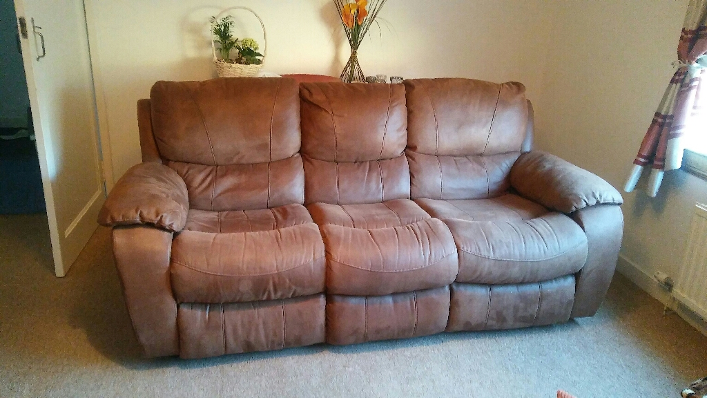 Faux leather recliner sofas