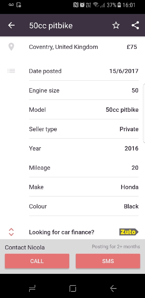 Honda 50cc pitbike
