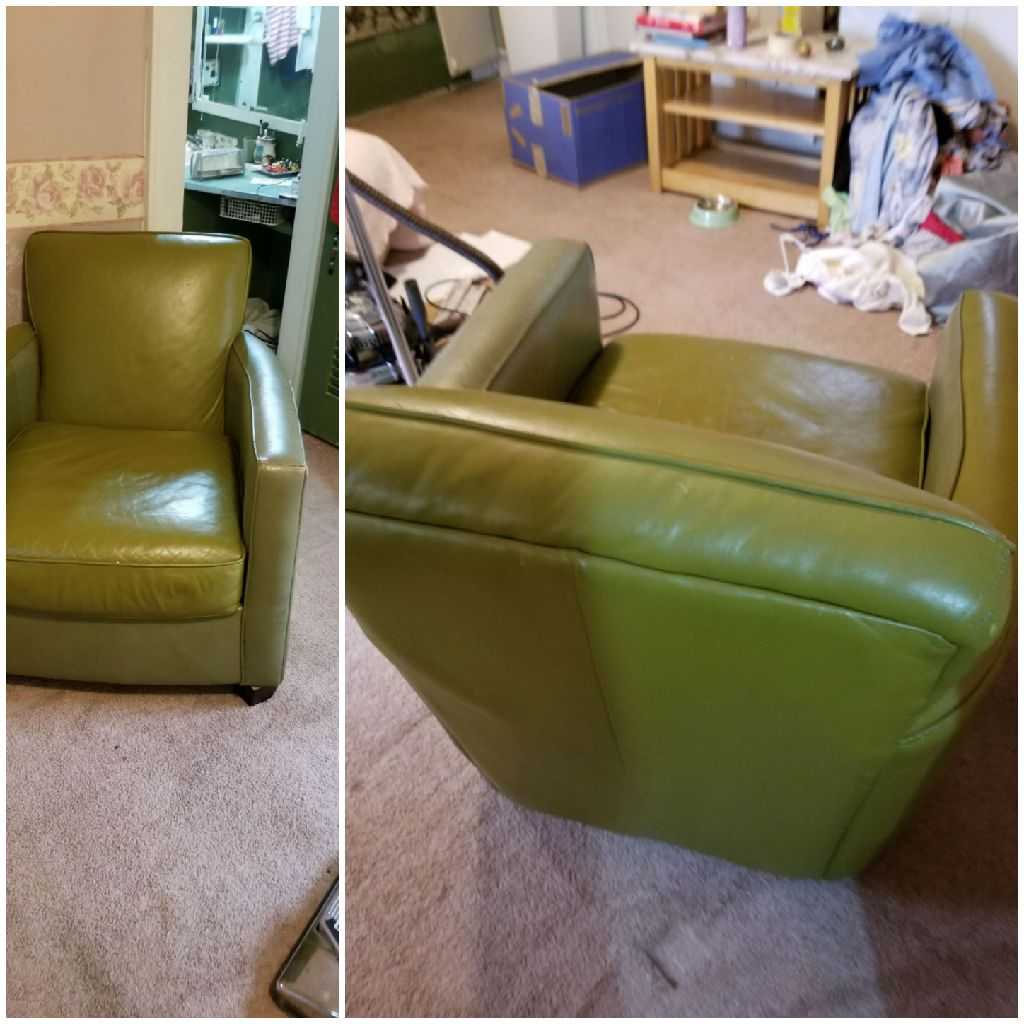 Comfortable Green Leather Chair