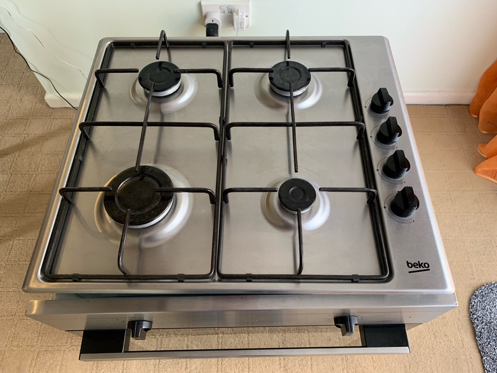 Beko electric cooker with gas hobs