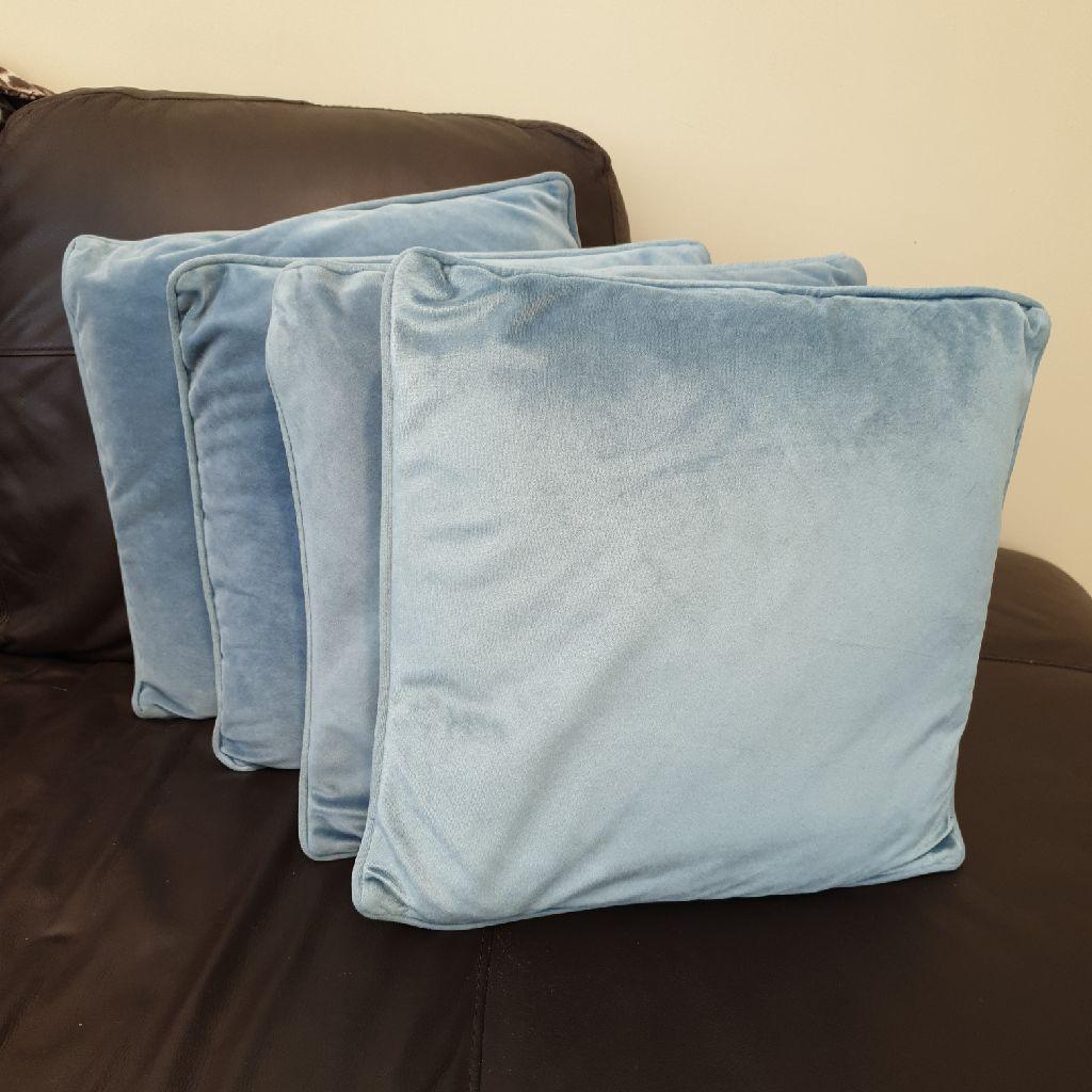 4 duck egg/ teal cushions