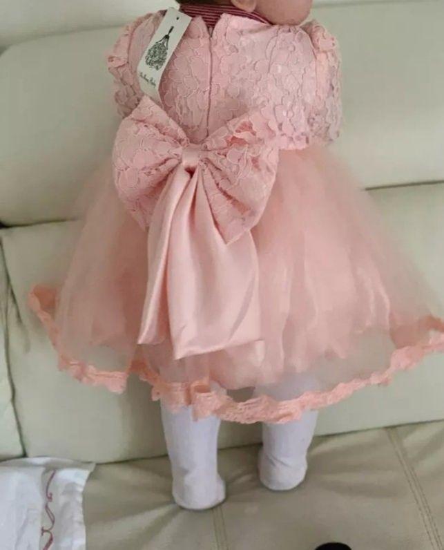 Age 12 months lace bow dress