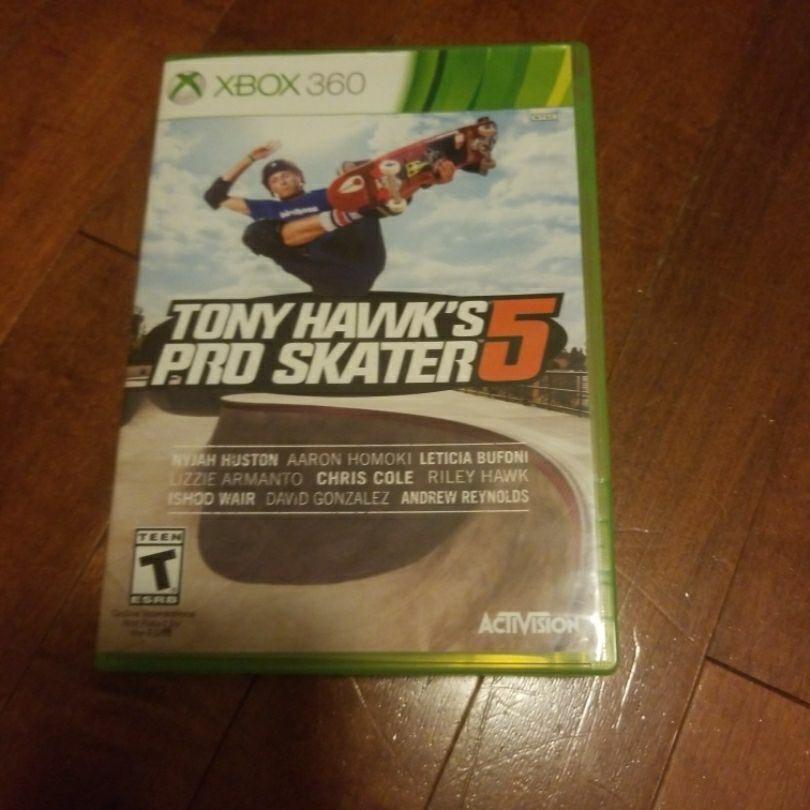 Xbox 360 Tony hawk's pro skater 5