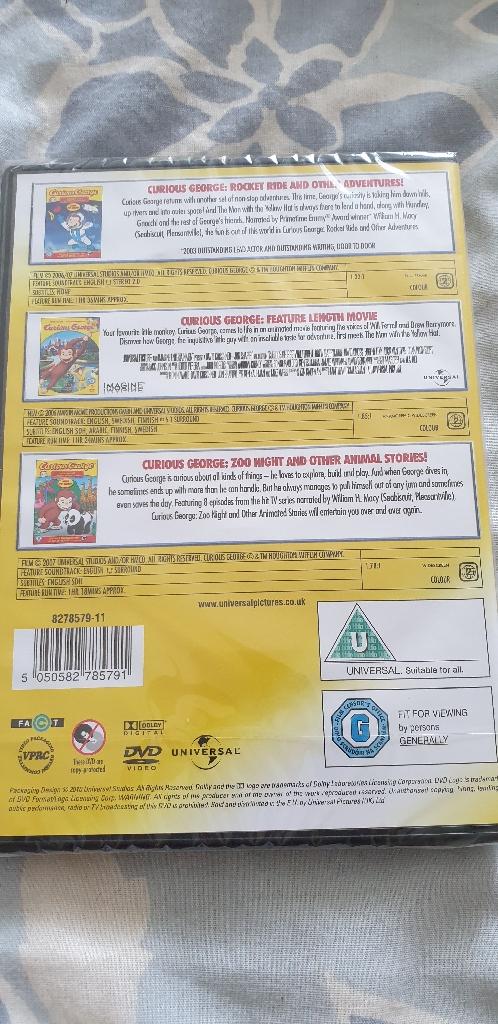 New Curious George 3 dvd box set