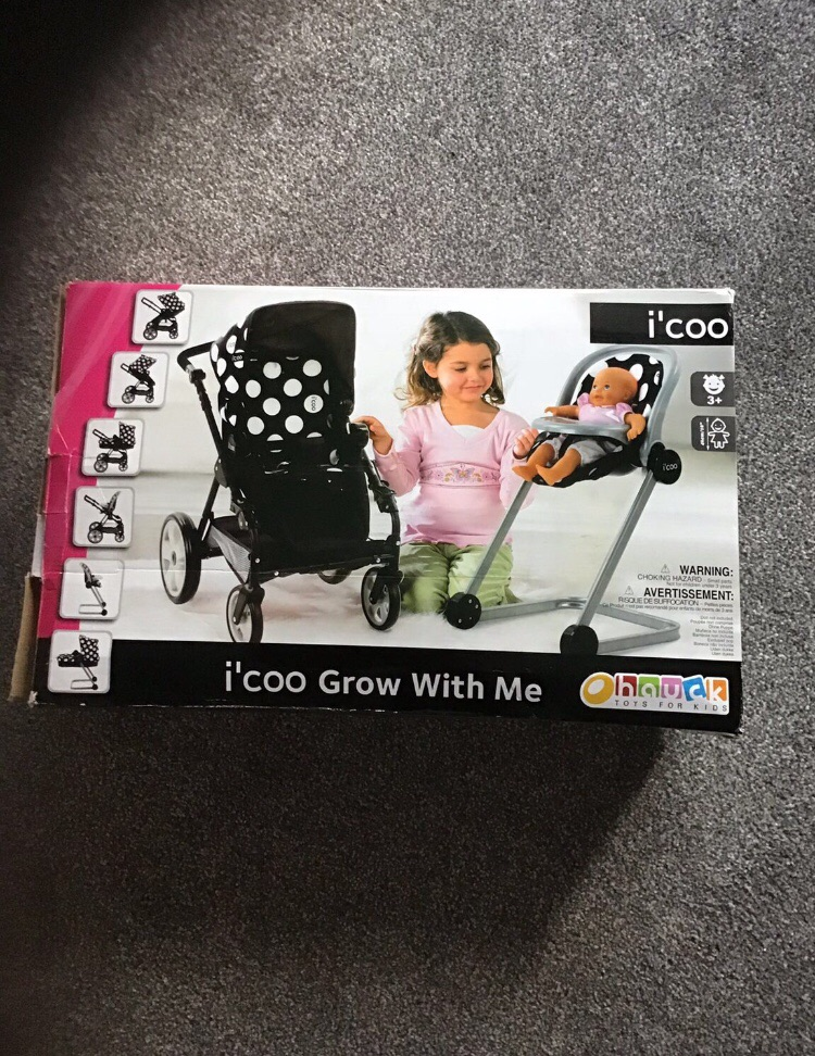 I'Coo Grow with me Doll Play Set - Rare Black Colour