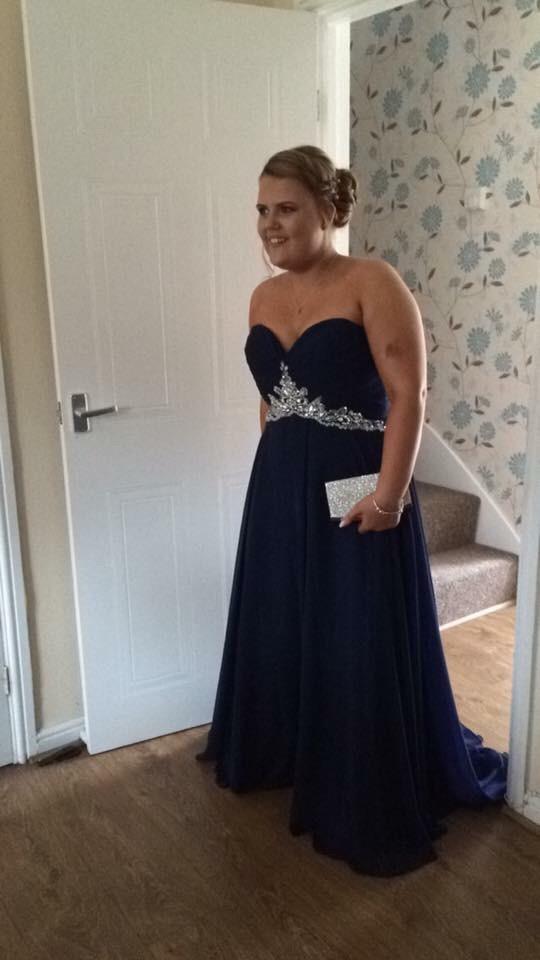 Navy blue prom/bridesmaid dress