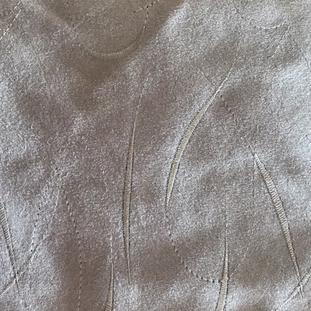 3m embroidered suede effect suiting fabric dark olive