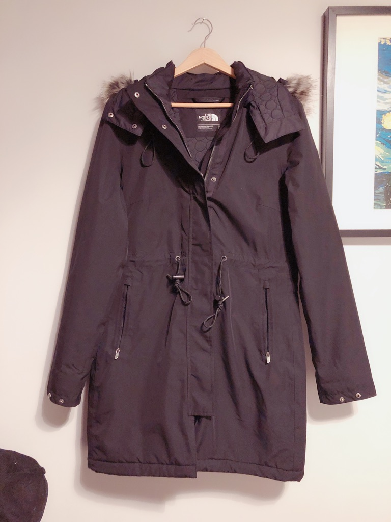 The north face waterproof jacket/coat size M black woman