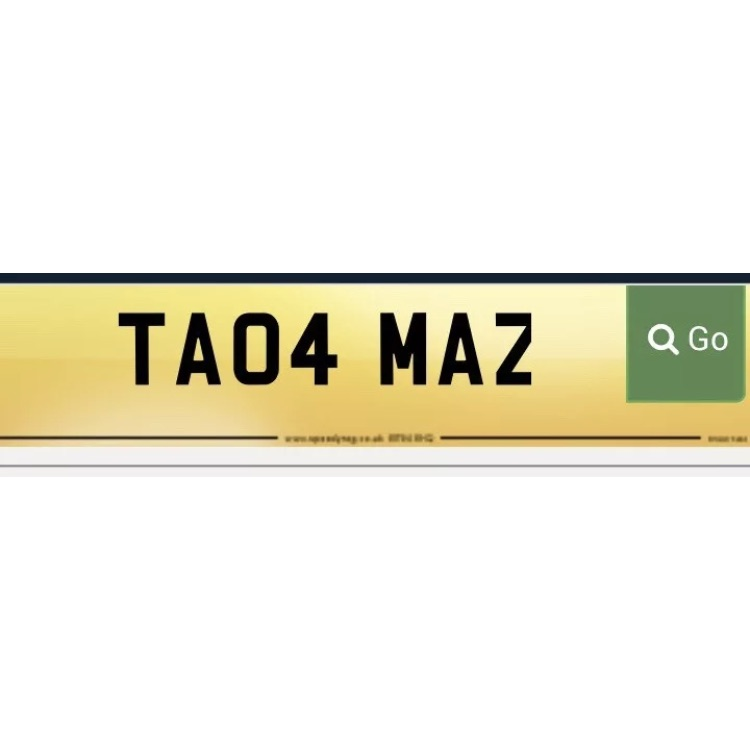 TA04 MAZ - private plate