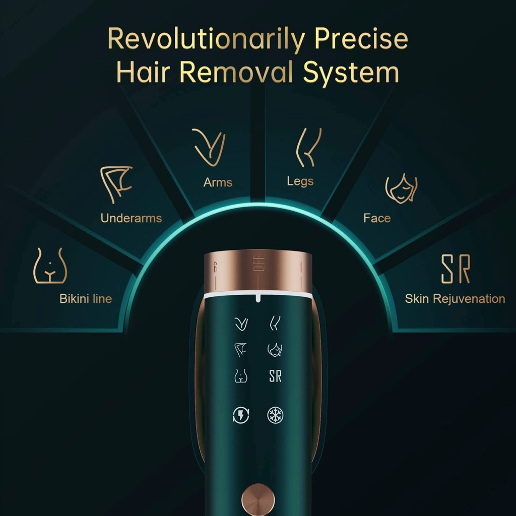 BoSidin IPL Hair Removal Device, Unisex Permanent Painless Remover