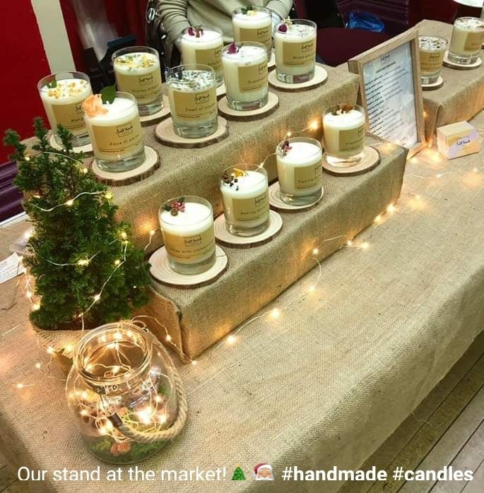Hand made candles