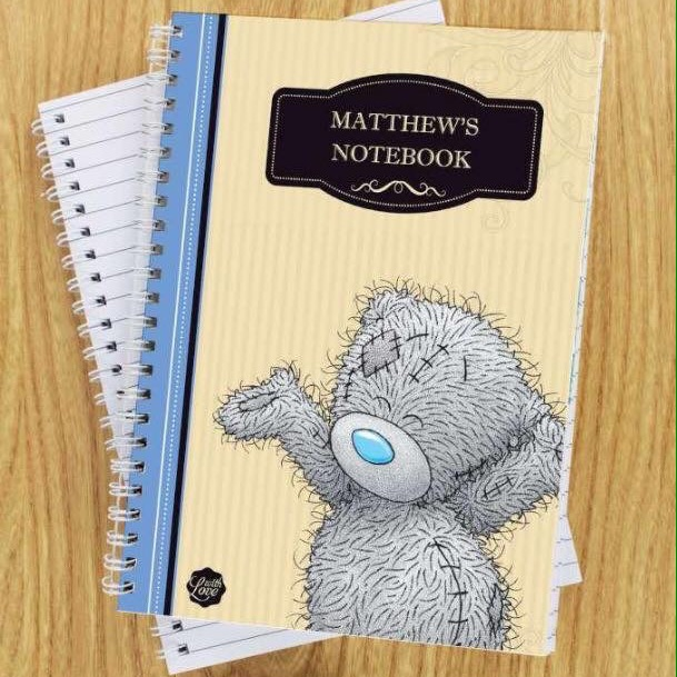 Personalised me to you for him paperback A5 notebook