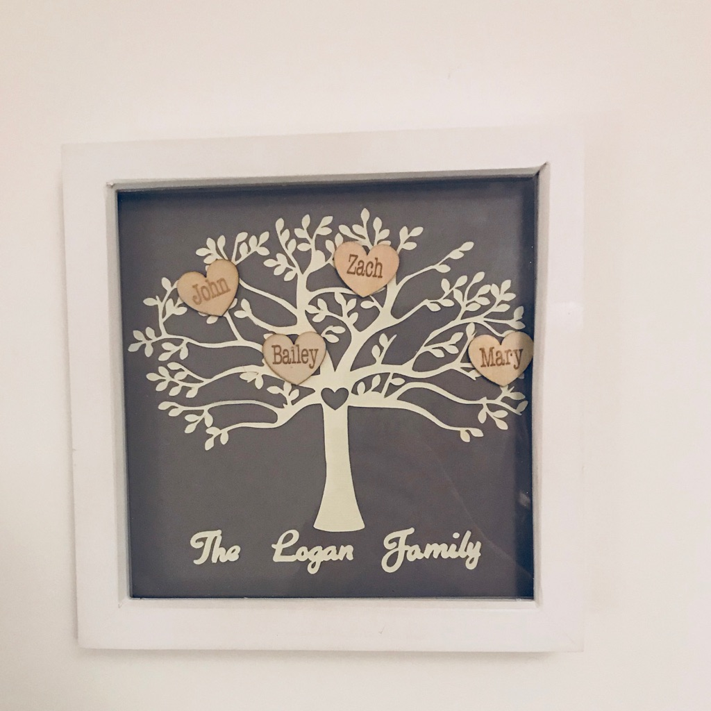 Family Tree Personalised Paper-cut Frame