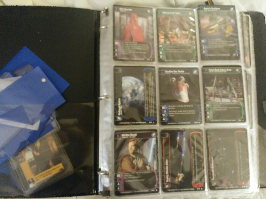 Collection of star wars cards